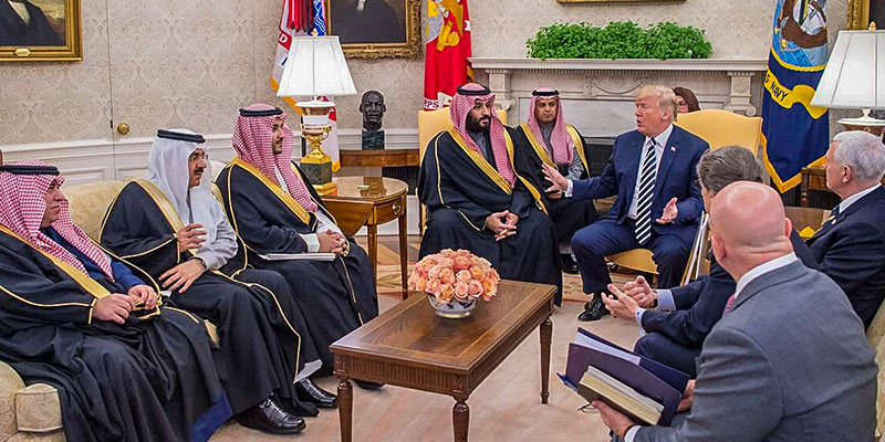 Image result for PHOTOS OF TRUMP AND MBS