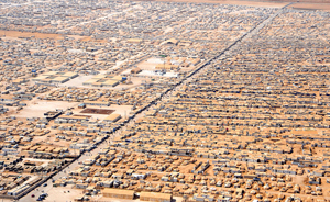 A close-up view of the Za'atri camp for Syrian refugees as seen on July 18, 2013. Photo: U.S. State Department.