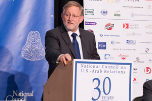 Ambassador (Ret.) James B. Smith at the National Council on U.S.-Arab Relations' 2013 Arab-U.S. Policymakers Conference. Photo: NCUSAR.