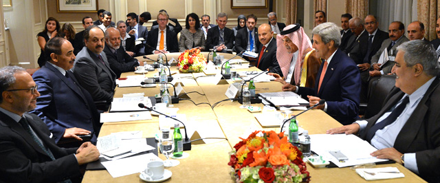 U.S. Secretary of State John Kerry meets with Gulf Cooperation Council Foreign Ministers in New York City on September 25, 2014. Photo: U.S. Department of State.