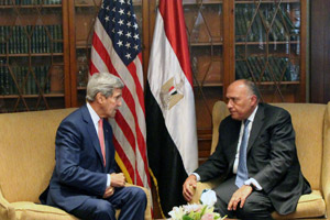 John Kerry meets with Egyptian Foreign Minister Sameh Shoukry