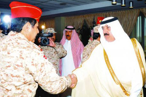 Prince Mit`eb bin Abdullah receives senior Saudi Arabian National Guard officers