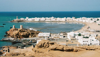 The Indian Ocean port of Sur, home to many craftsmen of Oman's traditional wooden sailing dhows and its merchant captains of the sea who still sail to and from the Gulf, Africa, and lands east.