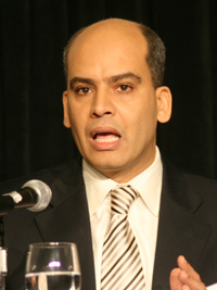 Dr. Abderrahim Foukara, Washington Bureau Chief of Al-Jazeera International, addresses the 2007 Arab-U.S. Policymakers Conference