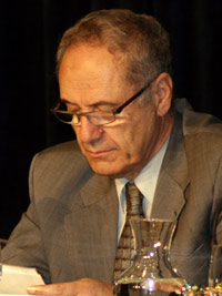 Dr. Edmund Ghareeb, Mustafa Barzani Scholar of Global Kurdish Studies at American University, participates in a session on the geopolitical dynamics of Iran and Iraq at the 2007 Arab-U.S. Policymakers Conference