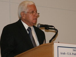 "H.E. Dr. Hussein Hassouna, Ambassador of the League of Arab States to the U.S., addresses ""Revisiting Arab-U.S. Strategic Relations: The Way Forward"" at the Council's 2007 Arab-U.S. Policymakers Conference"