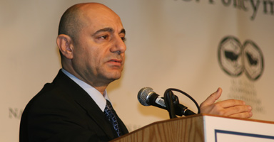 H.E. Dr. Imad Moustapha, Ambassador of Syria to the United States, delivers remarks on the geopolitical dynamics of Syria and Lebanon at the 2007 Arab-U.S. Policymakers Conference