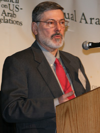 Dr. J.E. Peterson discusses Arab-U.S. defense cooperation at the 2007 Arab-U.S. Policymakers Conference