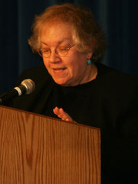 Dr. Judith Yaphe, Distinguished Research Fellow at the U.S. Department of Defense's National Defense University, gives remarks on the geopolitical dynamics of Iran and Iraq during the first day of the 2007 Arab-U.S. Policymakers Conference