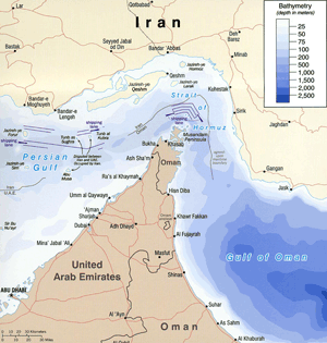 The Strait of Hormuz, the world's most strategically vital waterway.