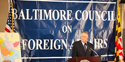 John Duke Anthony at the Baltimore Council on Foreign Affairs