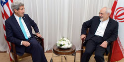 Kerry and Zarif during Iran nuclear negotiations