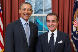 President Barack Obama and His Excellency Mohammed Jaham Al Kuwari