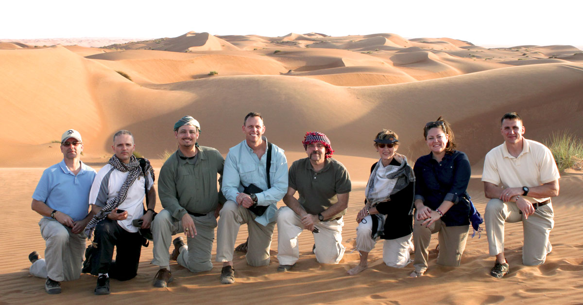 A NCUSAR Delegation Visiting the Rub al Khali